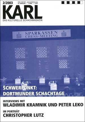 Karl-Schwerpunkt Dortmunder Schachtage Cover