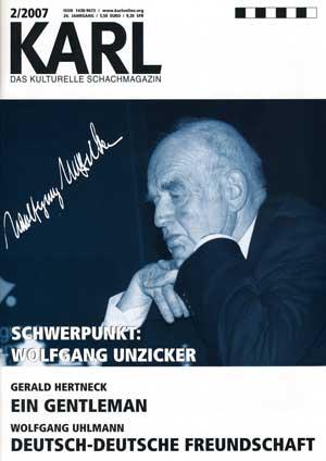 Karl-Schwerpunkt Unzicker Cover