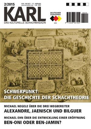 Karl-Schwerpunkt Schachtheorie Cover