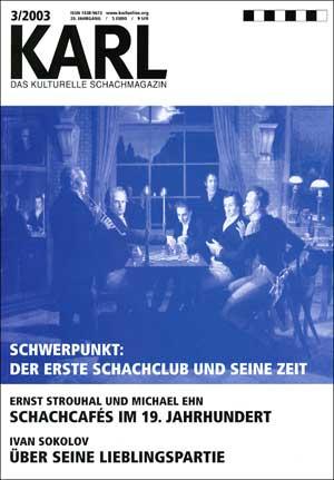Karl-Schwerpunkt Erster Schachclub Cover