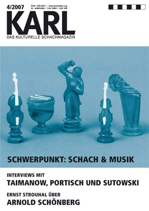 Karl-Schwerpunkt Schach und Musik Cover