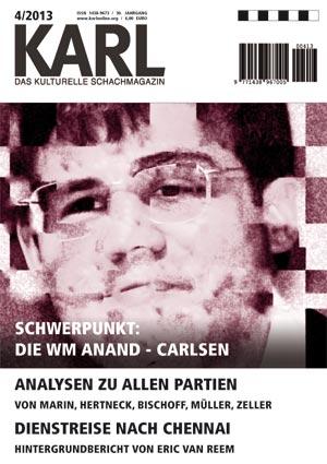 Karl-Schwerpunkt WM Anand-Carlsen Cover