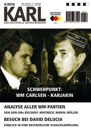 Karl-Schwerpunkt WM Carlsen-Karjakin Cover