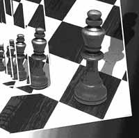 Schachgrafik Ewige Widerkehr des Gleichen