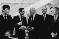Kasparow und Iwantschuk 1992 in Dortmund