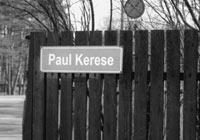 Paul Keres Strassenschild in Tallinn