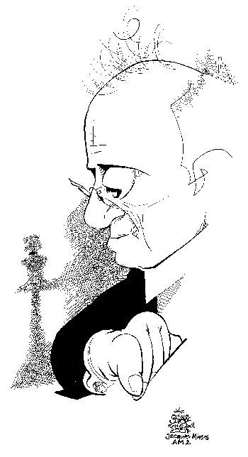 Mieses-Karikatur von Oliver Schopf