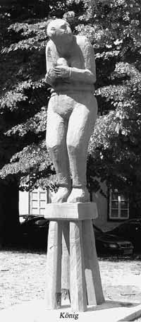Großschachfigur des Künstlers Stefan Albrecht