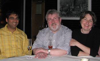 Vishy Anand, HW Schmitt mit Frau Conni