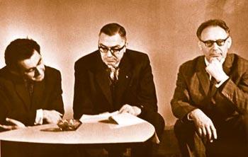 Tigran Petrosjan, Max Euwe und Mihail Botwinnik