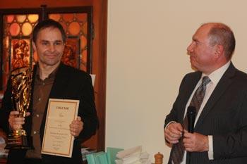 Übergabe des Deutschen Schachpreises 2014 (Schaack und Bönsch)