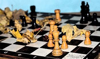 herbstliches Schachbrett