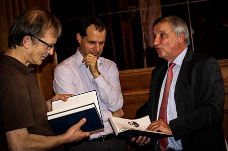 Lasker-Tag Leverkusen 13.10.2018: Herbert Bastian, Richard Forster, Dr. Michael Negele