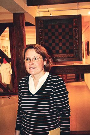 Kathrin Baltzer im Ströbecker Schachmuseum