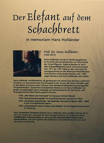 Tafel zu Holländer im Schraube-Museum Halberstadt